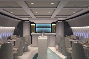 Interior shot of Crystal Air Cruises