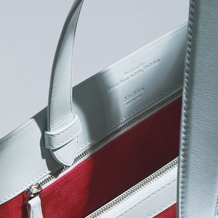 Up close shot of Renzo Piana Bag